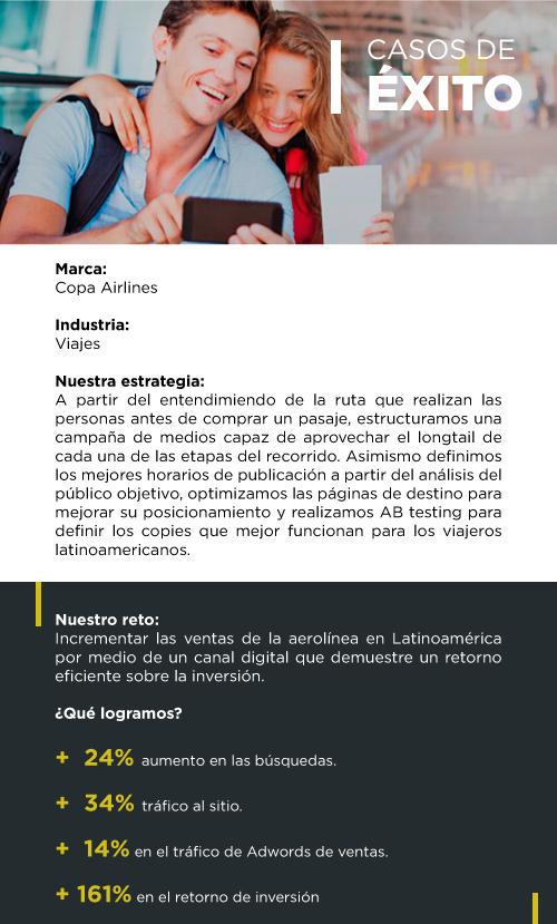 Éxito de Copa Airlines Mobile - Agencia Digital Colombia Indexcol
