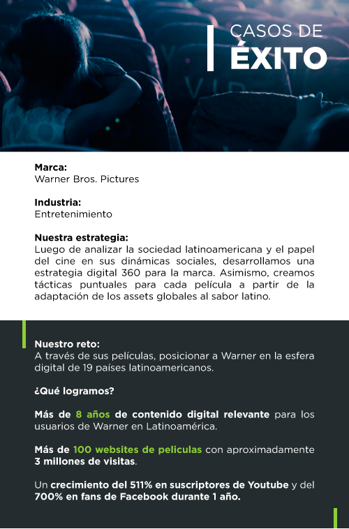 Éxito de Warner Mobile - Agencia Digital Colombia Indexcol